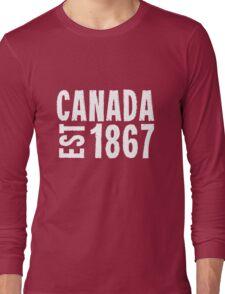 Canada Established 1867 Anniversary 150 Years Long Sleeve T-Shirt
