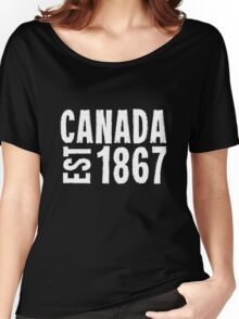 Canada Established 1867 Anniversary 150 Years Women's Relaxed Fit T-Shirt