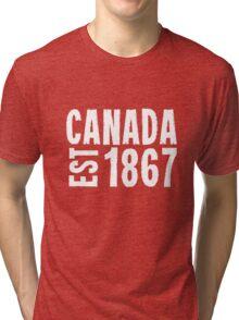 Canada Established 1867 Anniversary 150 Years Tri-blend T-Shirt