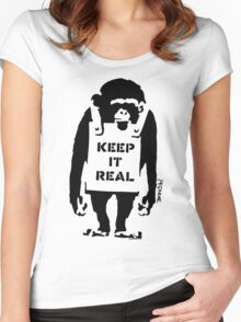 Banksy - Keep It Real Women's Fitted Scoop T-Shirt
