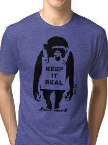 Banksy - Keep It Real Tri-blend T-Shirt