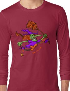 Crazy Witch Jumping Long Sleeve T-Shirt