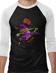 Crazy Witch Jumping Men's Baseball ¾ T-Shirt