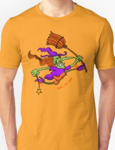 Crazy Witch Jumping Unisex T-Shirt