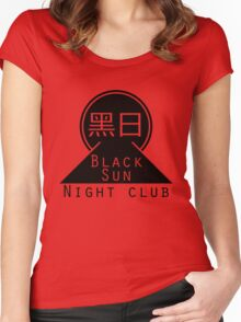 Black Sun Night Club Women's Fitted Scoop T-Shirt