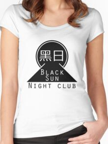 Black Sun Night Club Women's Fitted Scoop T-Shirt