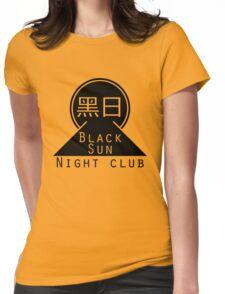 Black Sun Night Club Womens Fitted T-Shirt