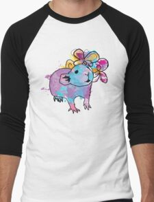 Watercolour Rattie Men's Baseball ¾ T-Shirt
