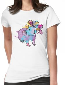 Watercolour Rattie Womens Fitted T-Shirt