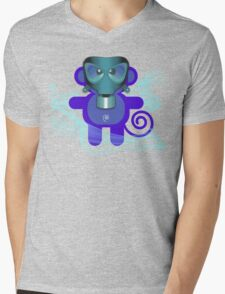 MUNKEY 7 (TOXIC TIME) Mens V-Neck T-Shirt