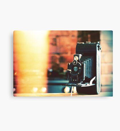 vintage camera. Canvas Print