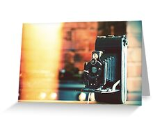 vintage camera. Greeting Card