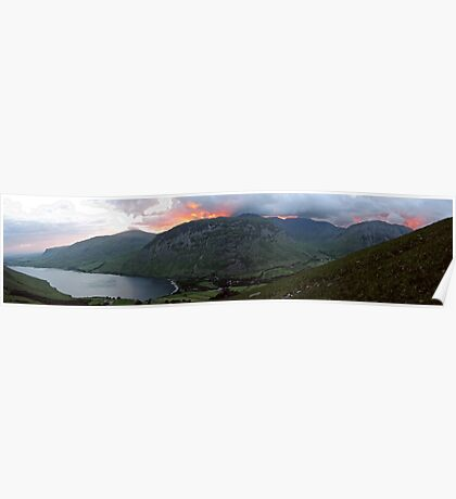 Wasdale from the slopes of Sca Fell Poster
