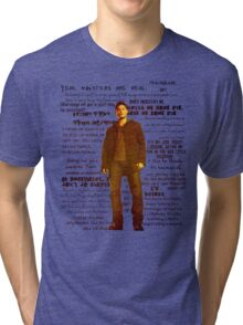 Dean Winchester quotes - red Tri-blend T-Shirt