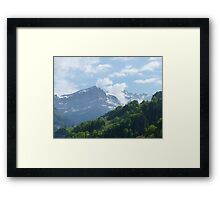 """Inspiring"" Mountain Range of Champoussin, Switzerland Framed Print"