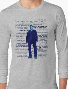 Dean Winchester quotes - blue Long Sleeve T-Shirt