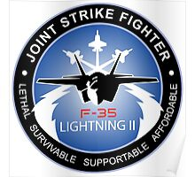 F-35 Lightning II Program Logo Poster
