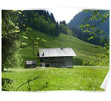 """Meadow View""  Champery, Switzerland Poster"
