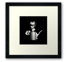 Zoe with can Framed Print