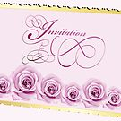 Invitation card with roses by schtroumpf2510