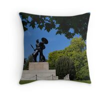 Achilles Statue Throw Pillow