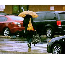 Rainy Day Jaywalker Photographic Print