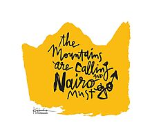 The Mountains Are Calling and Nairo Must Go  Photographic Print