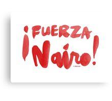 Fuerza Nairo Quintana : v2 - Red Script Canvas Print