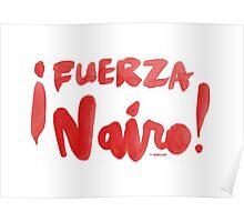 Fuerza Nairo Quintana : v2 - Red Script Poster