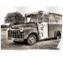 Lone Star Beer Truck Poster