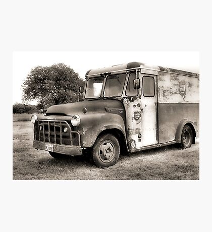 Lone Star Beer Truck Photographic Print