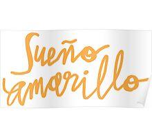 Nairo Quintana : Sueno Amarillo / Yellow Dream in Yellow Lettering Poster