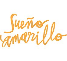 Nairo Quintana : Sueno Amarillo / Yellow Dream in Yellow Lettering Photographic Print
