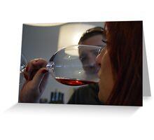Wine tasting... Greeting Card
