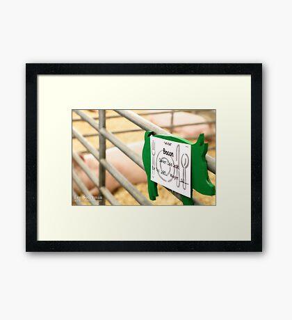 Pre-Bacon Framed Print