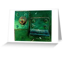 Green Lock Greeting Card