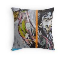 Mick and Rooster Throw Pillow