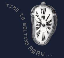 Salvador Dali Inspired Melting Clock. Time is melting away. Kids Tee