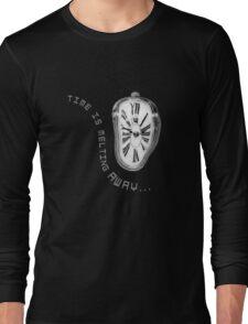 Salvador Dali Inspired Melting Clock. Time is melting away. Long Sleeve T-Shirt