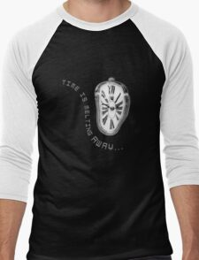 Salvador Dali Inspired Melting Clock. Time is melting away. Men's Baseball ¾ T-Shirt