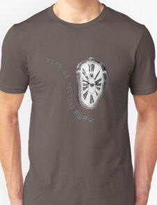 Salvador Dali Inspired Melting Clock. Time is melting away. Unisex T-Shirt