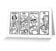 Stinker, Jailer, Sold-out, Spy Greeting Card