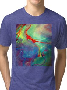 Colorful Splash Art  Tri-blend T-Shirt