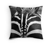 But It's a Zebra? BW Throw Pillow