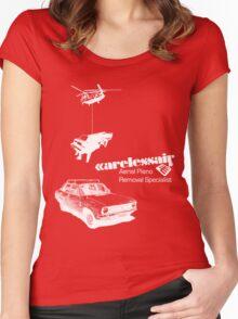 Careless Air (dark shirt) Women's Fitted Scoop T-Shirt