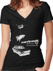 Careless Air (dark shirt) Women's Fitted V-Neck T-Shirt