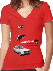 Careless Air Women's Fitted V-Neck T-Shirt