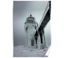 Winter Lighthouse at St. Joseph, Michigan Poster