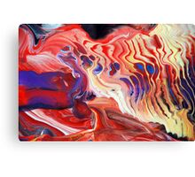 Flowing Acrylic Colours Canvas Print