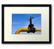 Pipeline valve on the tube Framed Print